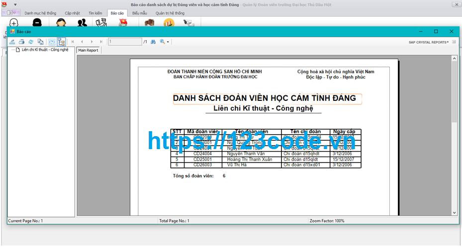 Source code kèm báo cáo phần mềm quản lý đoàn viên trường đại học c# có data