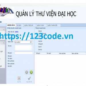 Source code quản lý thư viện c# có báo cáo kèm database