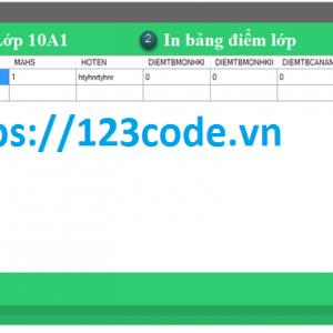 Source code và báo cáo quản lý học sinh THPT c#