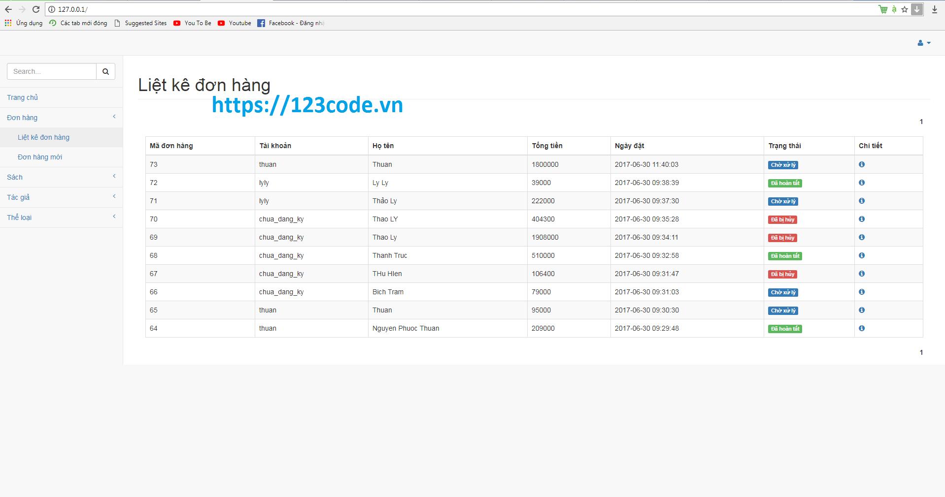Source code website bán sách online php thuần chuẩn seo hoàn chỉnh