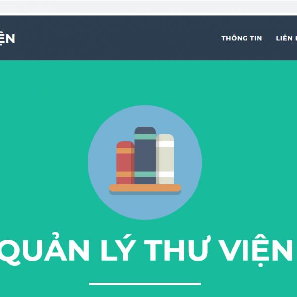 Tải miễn phí source code quản lý thư viên PHP - Mysql tham khảo