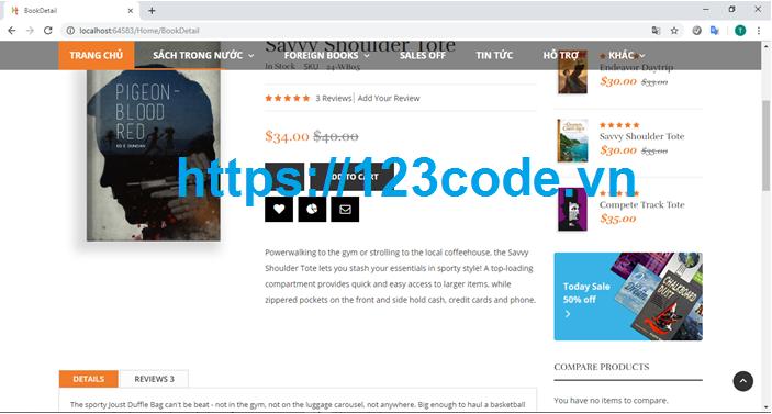 Tải source code kèm báo cáo tốt nghiệp website bán sách asp.net - mvc có data 1