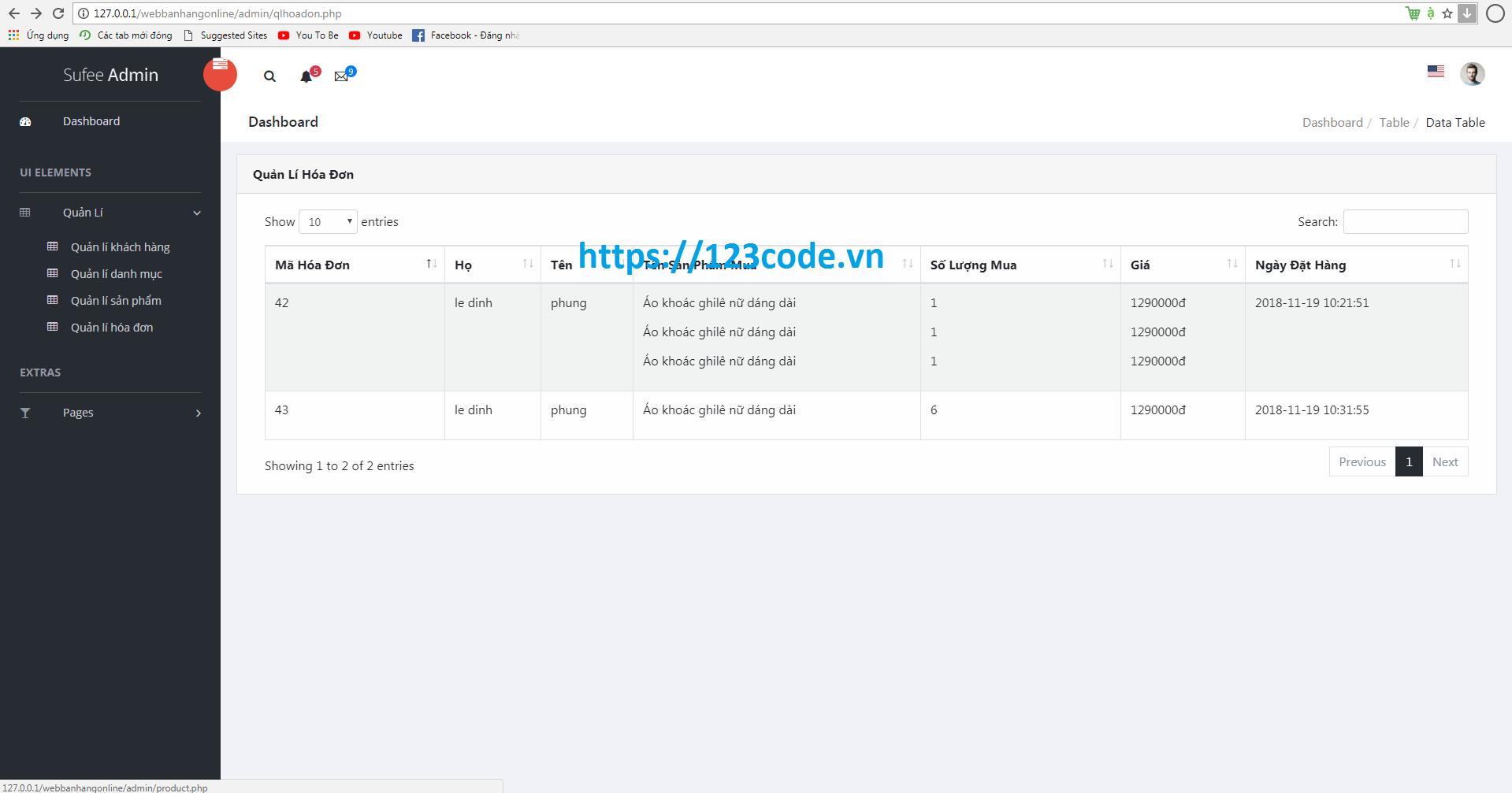 Tải source code php website bán hàng online full database, hướng dẫn