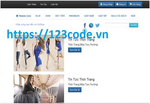 Tải source code website bán hàng quần áo Java Spring MVC - Hibernate