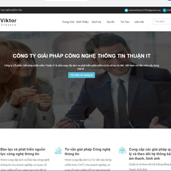 Tải source code website giới thiệu sản phẩm dịch vụ php