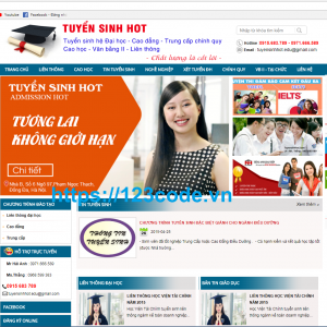 Tải source code website tuyển sinh đại học php full database