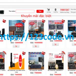 Báo cáo kèm source code website bán hàng điện tử php thuần