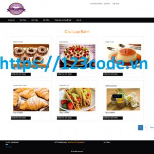 Báo cáo kèm source code website quản lý bán bánh asp.net full data