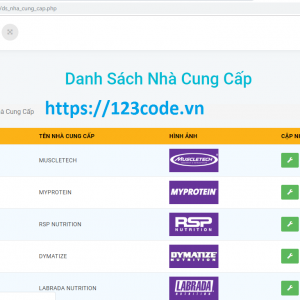 Chia sẻ source code website bán hàng php thuần full database