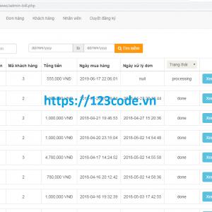 Chia sẻ source code website bán hàng thời trang php full data