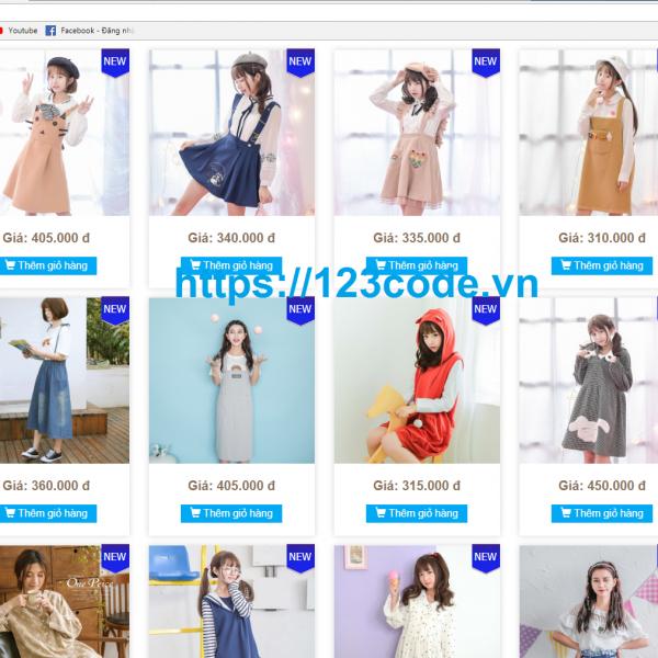 Full source code website bán hàng quần áo php chuẩn seo 1