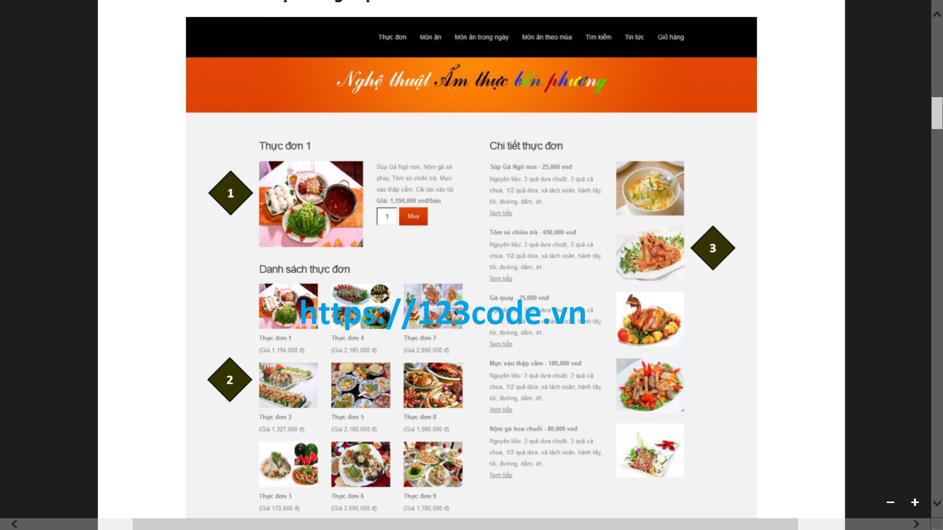 Share source code kèm báo cáo website quản lý nhà hàng php thuần miễn phí