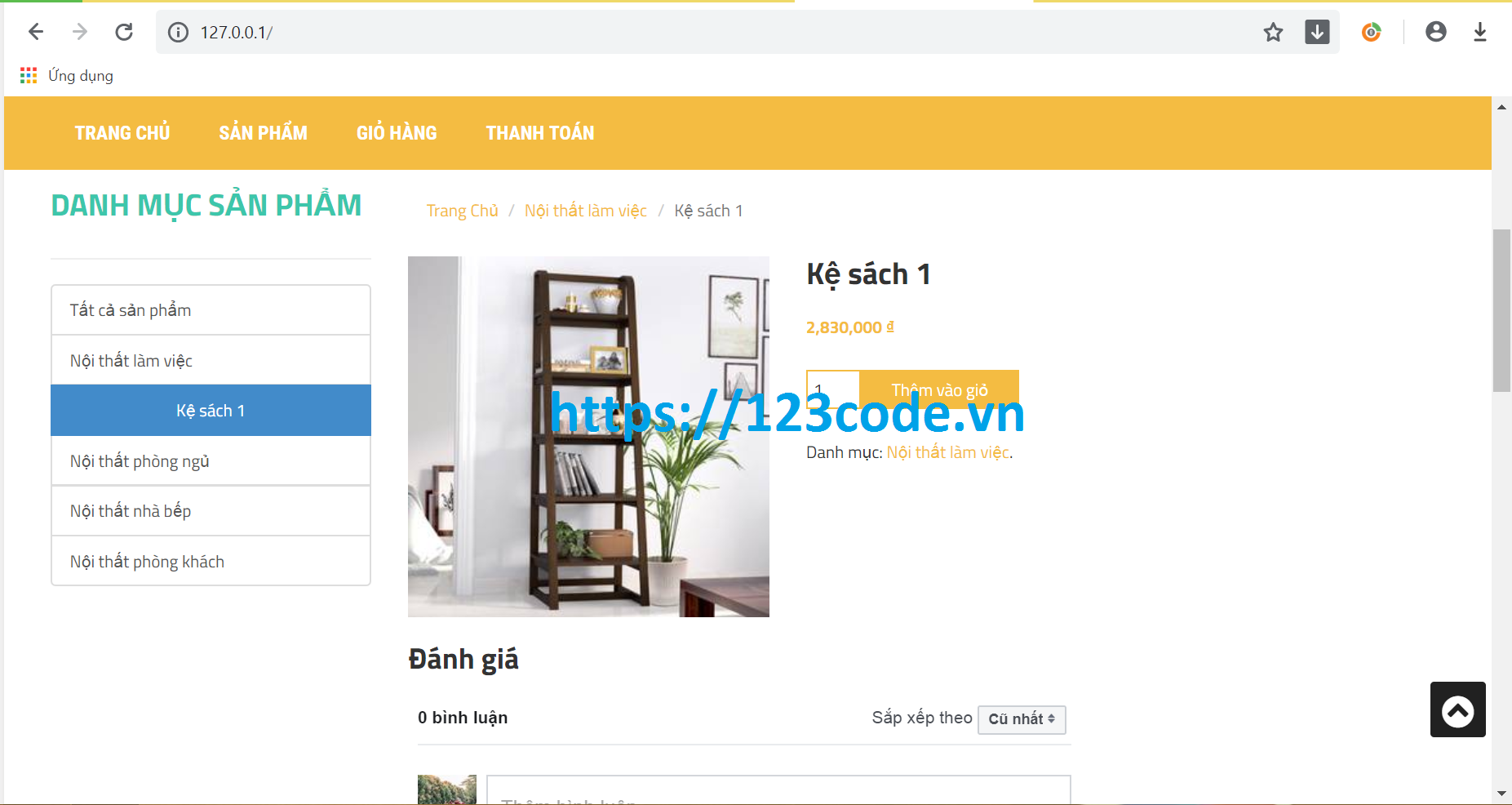 Share source code website bán hàng nội thất php thuần full database