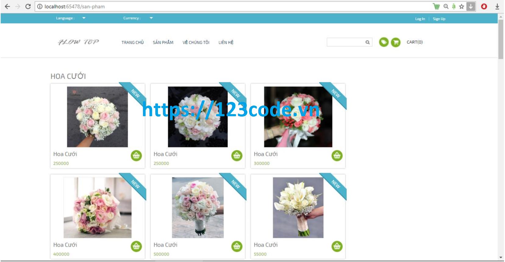 Share source code website bán hoa online asp.net full báo cáo và data