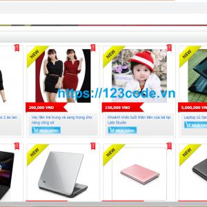 Source code website bán hàng php full database chuẩn seo 1