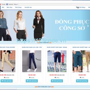 Tải ful source code website bán hàng quần áo php CodeIgniter Framework