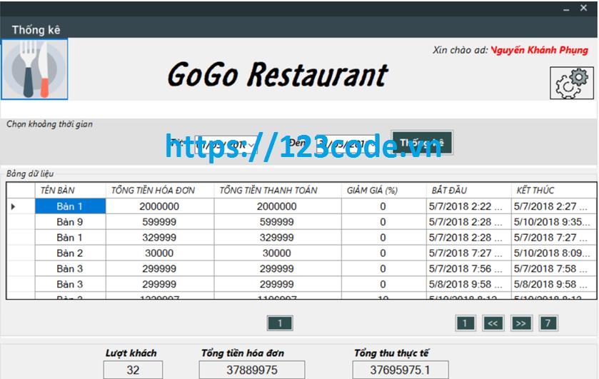 Báo cáo kèm source code quản lý nhà hàng c# full data