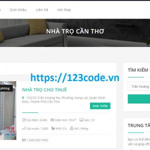 Báo cáo thực tập website giới thiệu nhà trọ php full báo cáo