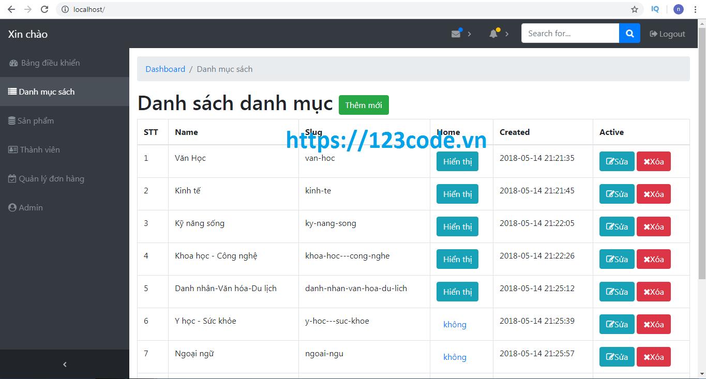 Chia sẻ code website bán sách online php thuần đầy đủ tính năng DATN