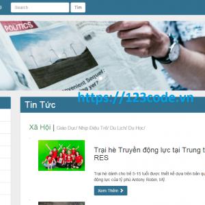 Chia sẻ code website tin tức online php thuần cực hay