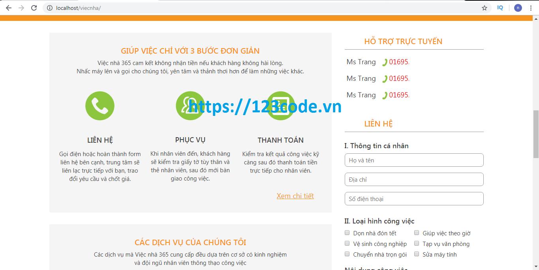 Chia sẻ source code website dịch vụ làm việc nhà wordpress chuẩn seo
