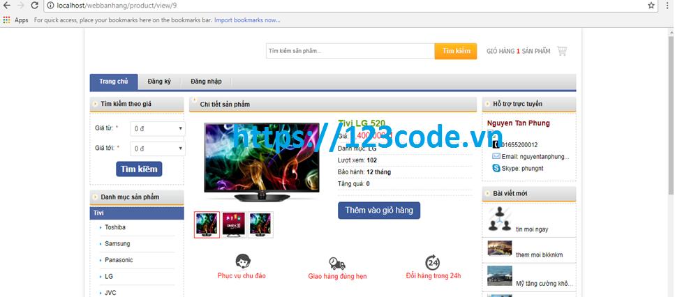 Code website bán hàng php CodeIgniter Framework full báo cáo