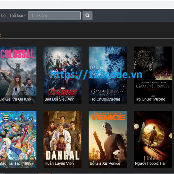 Code website xem phim php CodeIgniter Framework đầy đủ chức năng