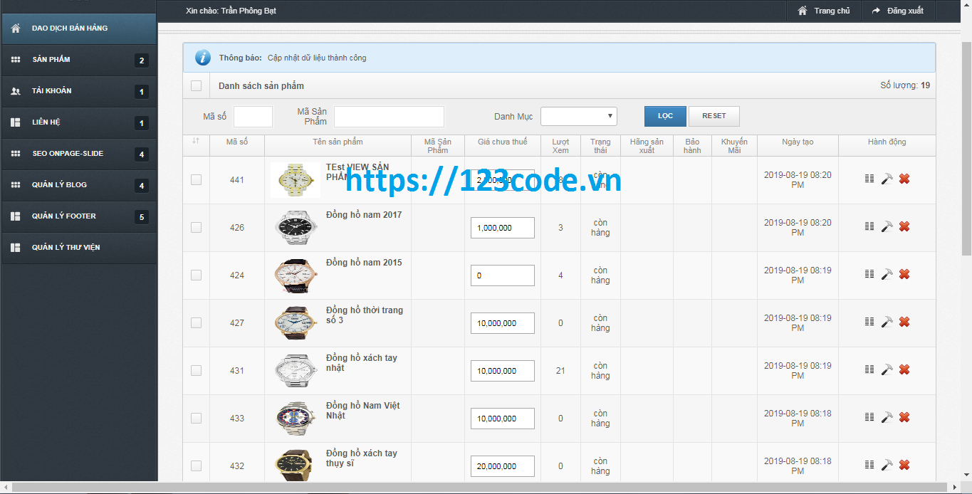 Share code shop bán hàng php codeigniter hoàn chỉnh cực đẹp