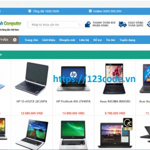 Share code website bán máy tính php thuần full data chuẩn seo