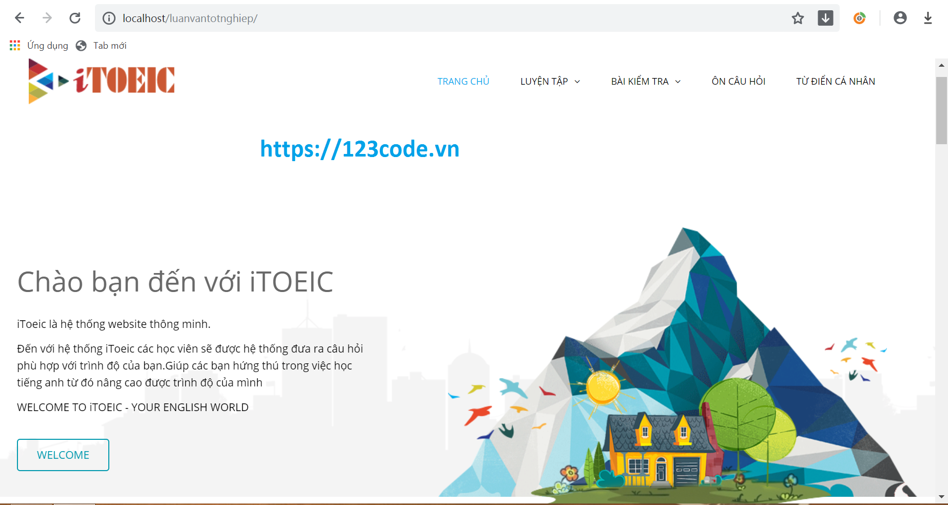 Share source code luyện thi trắc nghiệm tiếng anh php CodeIgniter Framework