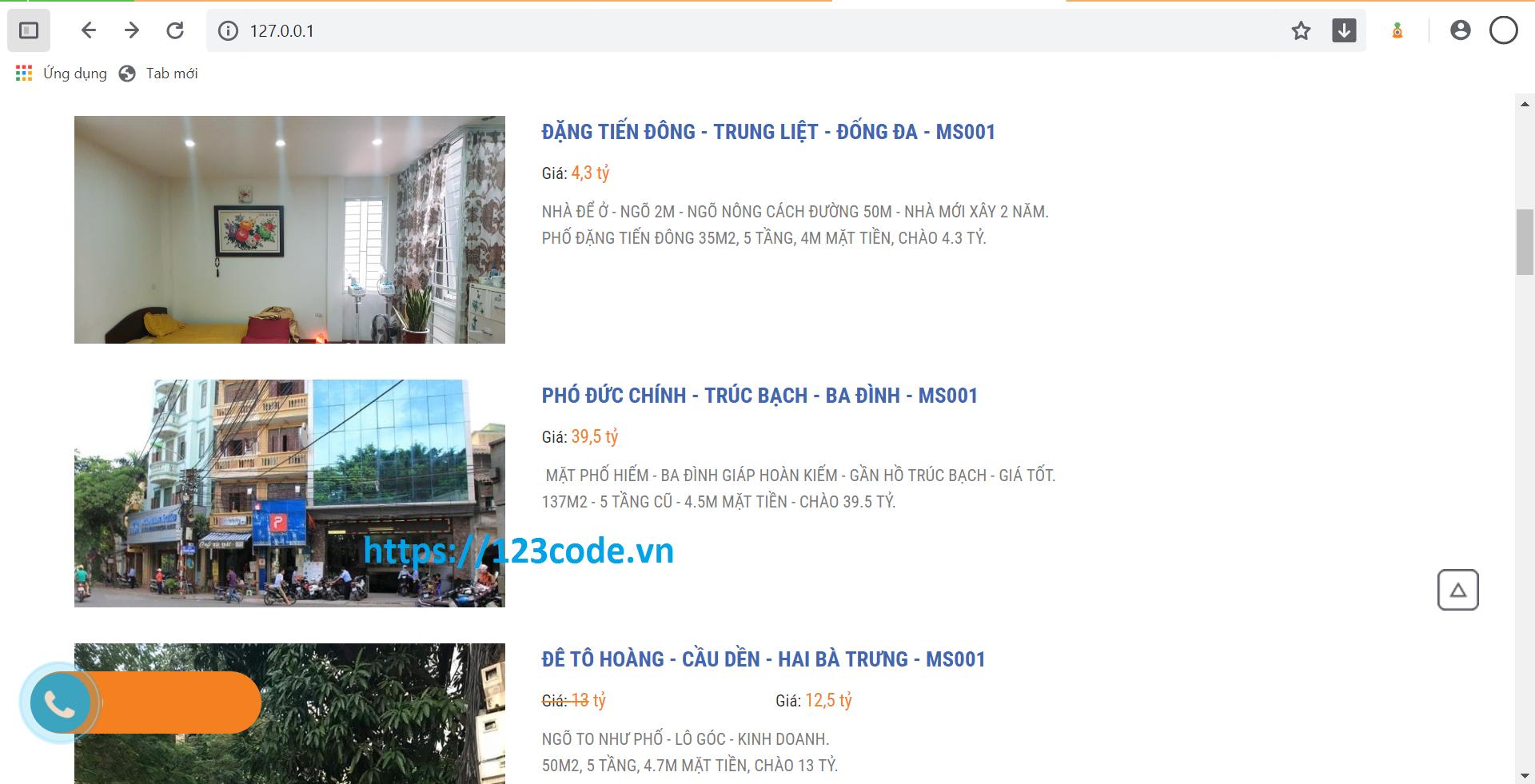 Share source code website bất động sản bằng php thuần chuẩn seo