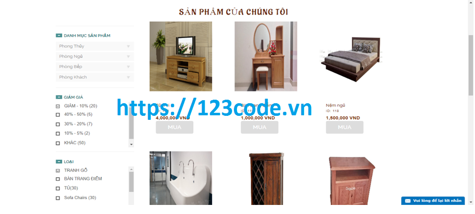 Source code php laravel website bán hàng nội thất kèm báo cáo ( đồ án tốt nghiệp)