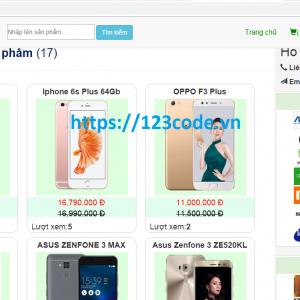 Source code shop bán hàng điện thoại php codeigniter đầy đủ code
