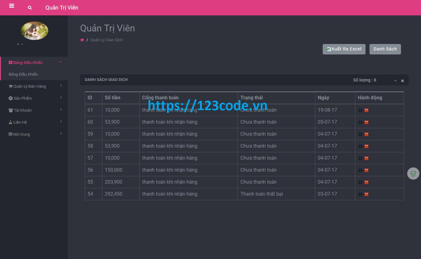Source code shop bán hàng thực phẩm sạch php codeigniter hoàn chỉnh