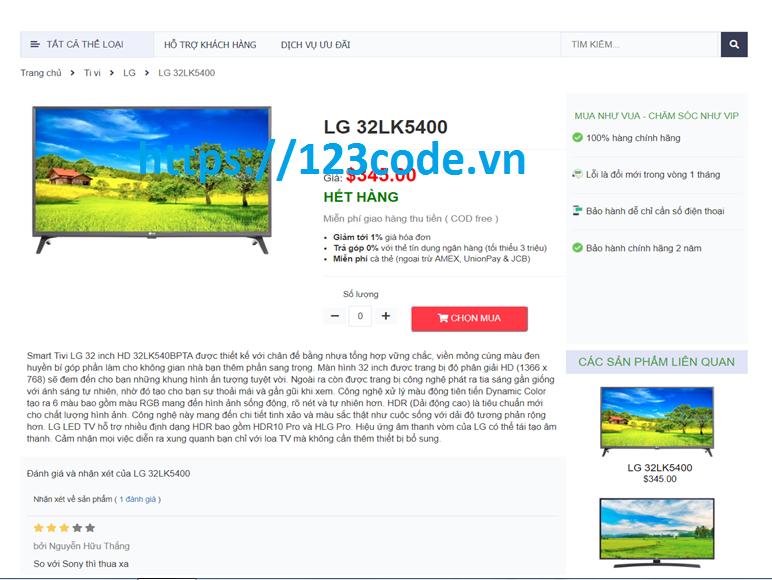 Source code website bán hàng trực tuyến Java Servlet JSP - Báo cáo tốt nghiệp