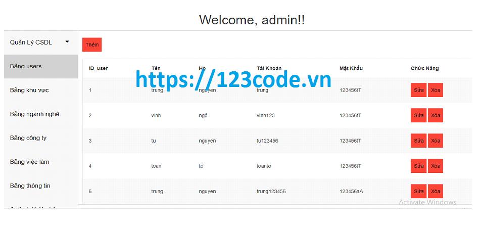 Source code website tìm kiếm việc làm php full data kèm báo cáo
