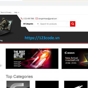 Tải code website thương mại điện tử wordpress 123code.vn