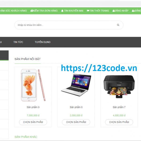 Tải source code website bán hàng TMĐT php full chức năng cực hay