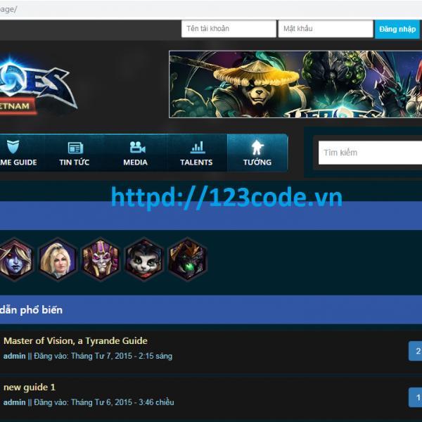 Tải source code website game wordpress