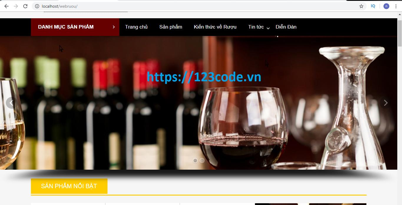 source code web bán rượu bằng wordpress