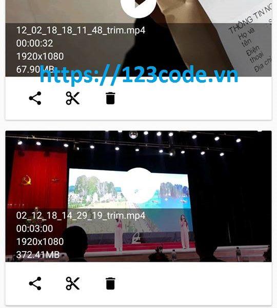 Đề tải ứng dụng cắt video trên điện thoại Android java full code và báo cáo