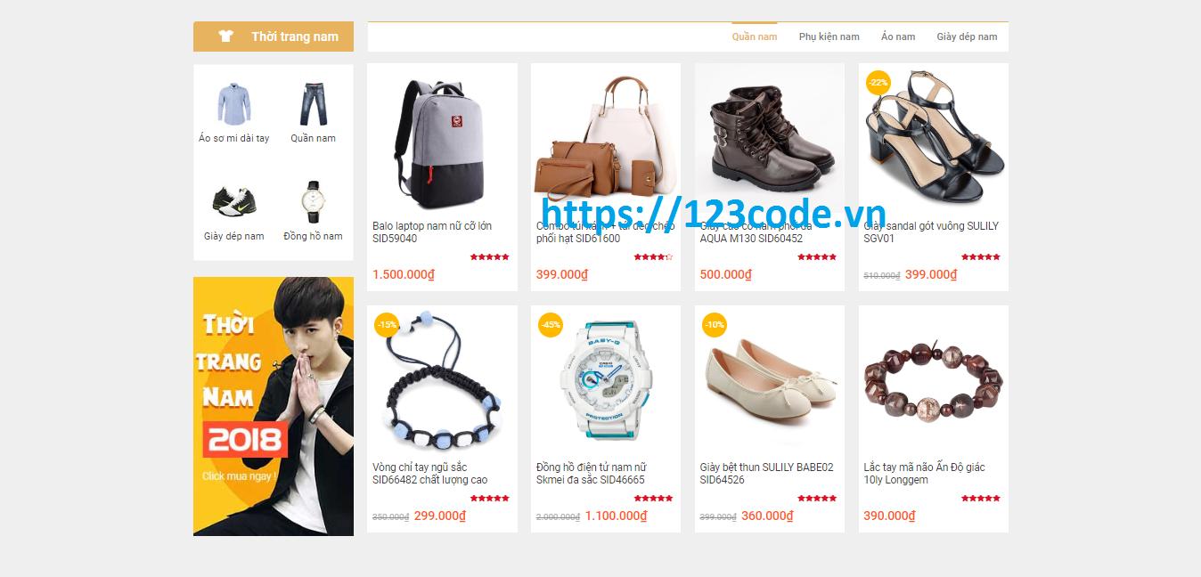 Tải miễn phí source code website bán hàng wordpress gần giống lazada - shopee