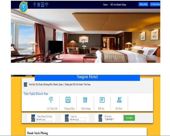 Báo cào và source code đặt phòng khách sạn online php thuần