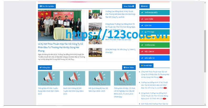 Báo cáo tốt nghiệp web cổng thông tin trường học php laravel full báo cáo