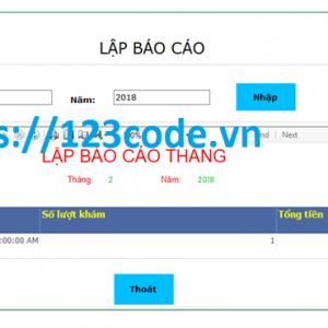 Chia sẻ code code đề tài quản lý phòng mạch c# có báo cáo