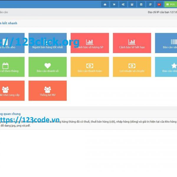 Chia sẻ source code phần mềm quản lý kho hàng php CodeIgniter miễn phí