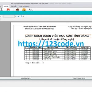 Chia sẻ source code quản lý đoàn viên c# đầy đủ data và báo cáo