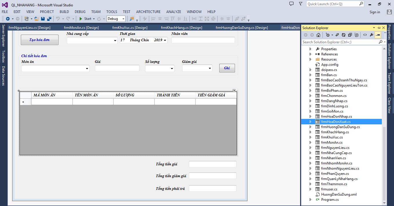 Share source code quản lý nhà hàng c# full code database mysql