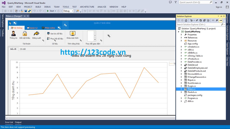 Source code đề tài quản lý nhà hàng c# đầy đủ code và báo cáo