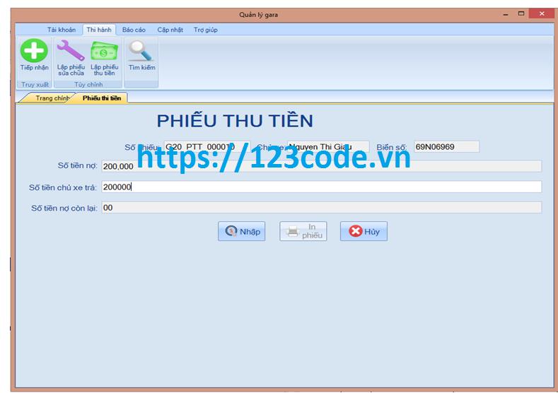 Source code hệ thống quản lý Gara ô tô c# full code và báo cáo